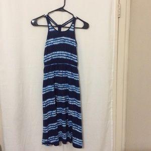 GapKids Summer dress blue tie-dye size medium